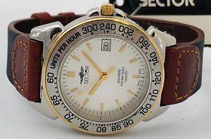 【送料無料】sector adv 4000 time bicolore orologio watch uhr very vintage anni 90 ms465 it