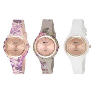 【送料無料】ravel ladies rose floral summer days silicon floral watch r1801f