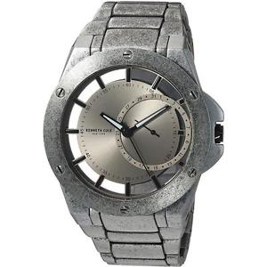 【送料無料】kenneth cole antique finish steel 46mmx52mm watch 10030787 17500