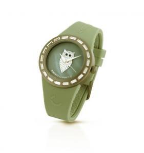【送料無料】orologio roberto giannotti misteri della notte omn161 civetta silicone verde