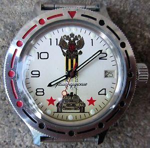 【送料無料】orologio militare sovietico russo vostok automatico perfettamente funzionante