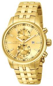 【送料無料】invicta mens specialty chronograph quartz stainless steel 100m watch 0253