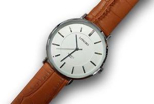 【送料無料】orologio da polso uomo 8860l analogico quarzo classico pelle marron qua bian lac