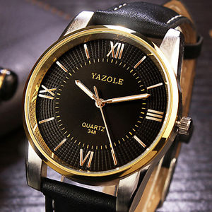 【送料無料】yazole 348 luxury business men wrist watch fashion leather male quartz watch