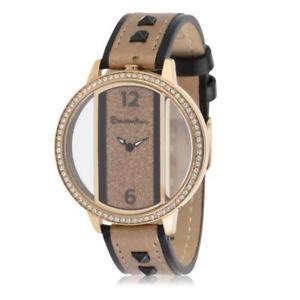 【送料無料】orologio donna braccialini brd 305s1oo pelle nero gold dorato beige