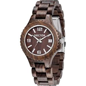 【送料無料】*mistery gift* orologio donna sector nature r3253478012 legno bracciale marrone