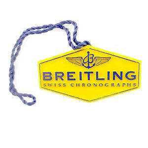 【送料無料】breitling authentic yellow watch hang tag in great condition