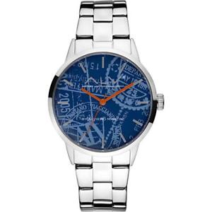 【送料無料】orologio alv by alviero martini alv0005 bracciale acciaio blu