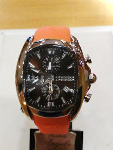 【送料無料】chronotech prisma crono da uomo arancio , 40mm ct7106m05 nuovo, list 109