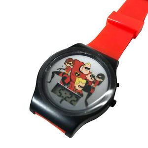 【送料無料】incredibles 2 digital lcd wrist watch kids adjustable strap