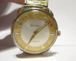 【送料無料】bulova m3 waterproof wristwatch 10k rgp