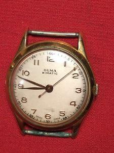 【送料無料】montre vintage olma bimatic 33mm plaqu or