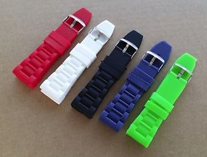 【送料無料】22mm and 26mm silicone rubber diver sport watch strap