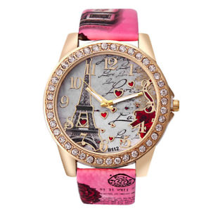 【送料無料】eiffel tower i love paris france quartz wrist watch