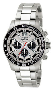 【送料無料】invicta signature ii 7405 mens round chronograph stainless steel watch