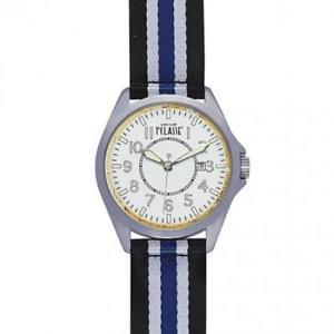 【送料無料】orologio uomo alviero martini 1a classe pch 1015bg pelle tessuto bianco nero