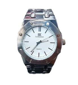 【送料無料】orologio da polso ik collection uomo analogico quarzo grande silver qua bian lac