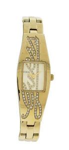 【送料無料】guess w11136l1 womens tonneau gold tone clear stones signature watch