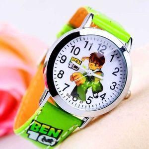 【送料無料】fashion cartoon watches for boys kids quartz cool sport strap leather wristwatch