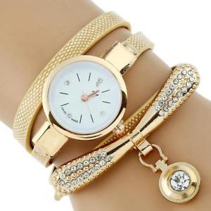 【送料無料】gnova platinum fashion luxury brand women rhinestone gold bracelet watch pu