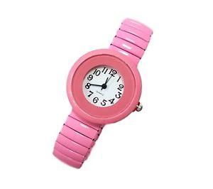 【送料無料】ds orologio da polso bracciale donna quarzo maglia elastica moda colore rosa lac