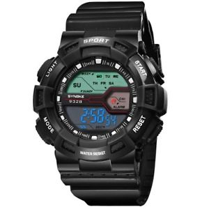【送料無料】waterproof led digital dual display sports wristwatches silicone rubber for kids