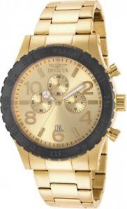 【送料無料】invicta gents 15160 specialty chrono yellow gold steel watch