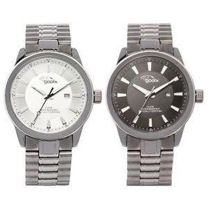 【送料無料】orologio solo tempo uomo gooix gx0600390b gx0600391b cassa e cinturino acciaio