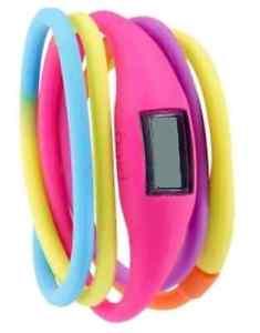 【送料無料】breo roam twist digital uhr lcd display universalgre pink neu amp; ovp