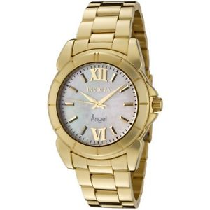 【送料無料】invicta womens 0460 angel collection 18k goldplated ss motherofpearl watch