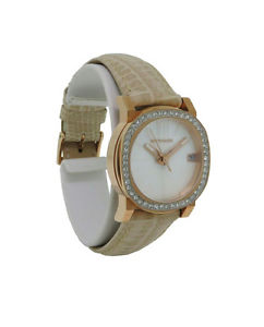 【送料無料】wittnauer crystal vn2003 womens roman numeral mother of pearl date analog watch