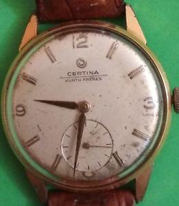 【送料無料】orologio certina kurth freres carica manuale