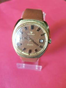 【送料無料】vintage catorex 25 rubis automatic gold plated watch montre