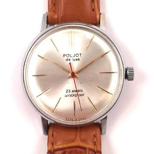【送料無料】vintage poljot delux windup watch w brslt export edtn 23j *us seller* 1115