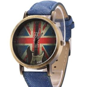 【送料無料】 montre god save the queen bracelet bleu jean