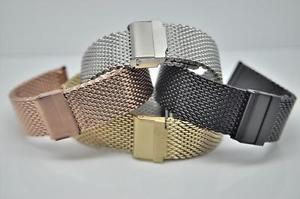 【送料無料】fully adjustable stainless steel shark mesh bracelet fits lugs from 10mm to 24mm