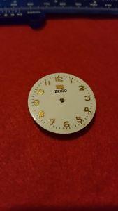 【送料無料】quadrante bianco e dorato orologio vintage zeico automatico