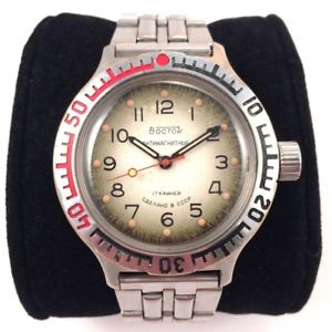 【送料無料】soviet vintage vostok komandirskie antimagnetic windup watch *us seller* 1118
