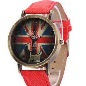【送料無料】 montre god save the queen bracelet denim rouge