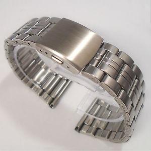 【送料無料】watch bracelet stainless steel 26mm or 28mm width top quality push button clasp
