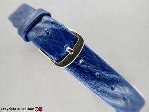【送料無料】leather watch strap openended blue 14mm