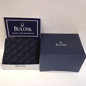 【送料無料】bulova authentic watch box storage case with 63 owners guide and warranty