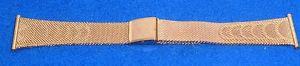 【送料無料】cinturino vintage 100 acciaio plac oro 25 mm lunghezza massima cm18 10