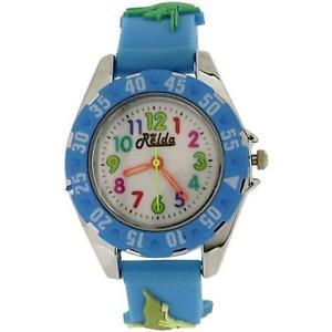 【送料無料】relda analogue childrens boys 3d dinosaur light blue silicone strap watch rel82