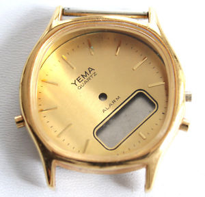 【送料無料】boitier de montre yema double affichage m1355 640 , 32 mm f4005