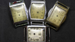 【送料無料】lot de 4 boitiers montre mcanique ancienne restaurer f504