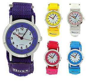 【送料無料】boxx childrens girls boys analogue easy fasten watch birthday gift for kids