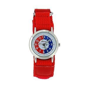 【送料無料】the olivia collection time teacher red easy fasten watch telling time award