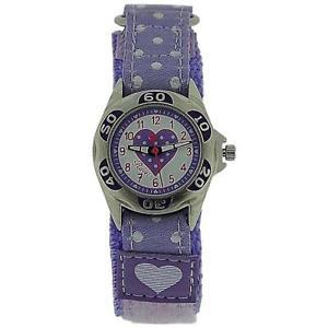 【送料無料】ravel girls lilac heart easy fasten strap watch r150723