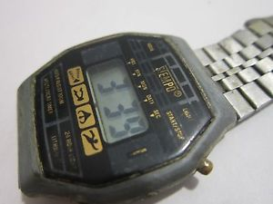 【送料無料】vintage watch digital mens stempo chronograph